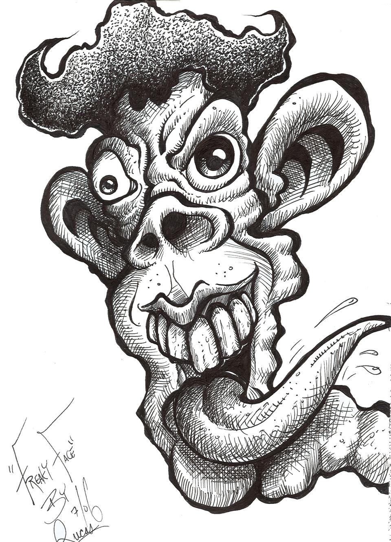 sketchbook work freaky face johnny toons