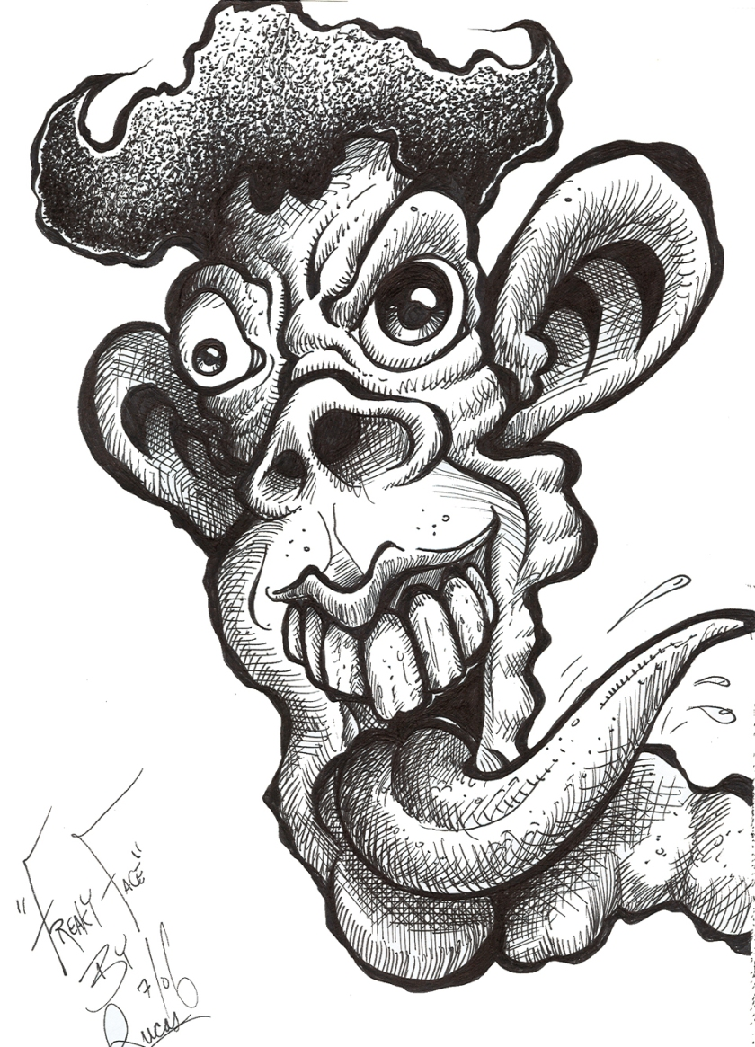 Freaky Face BW 125