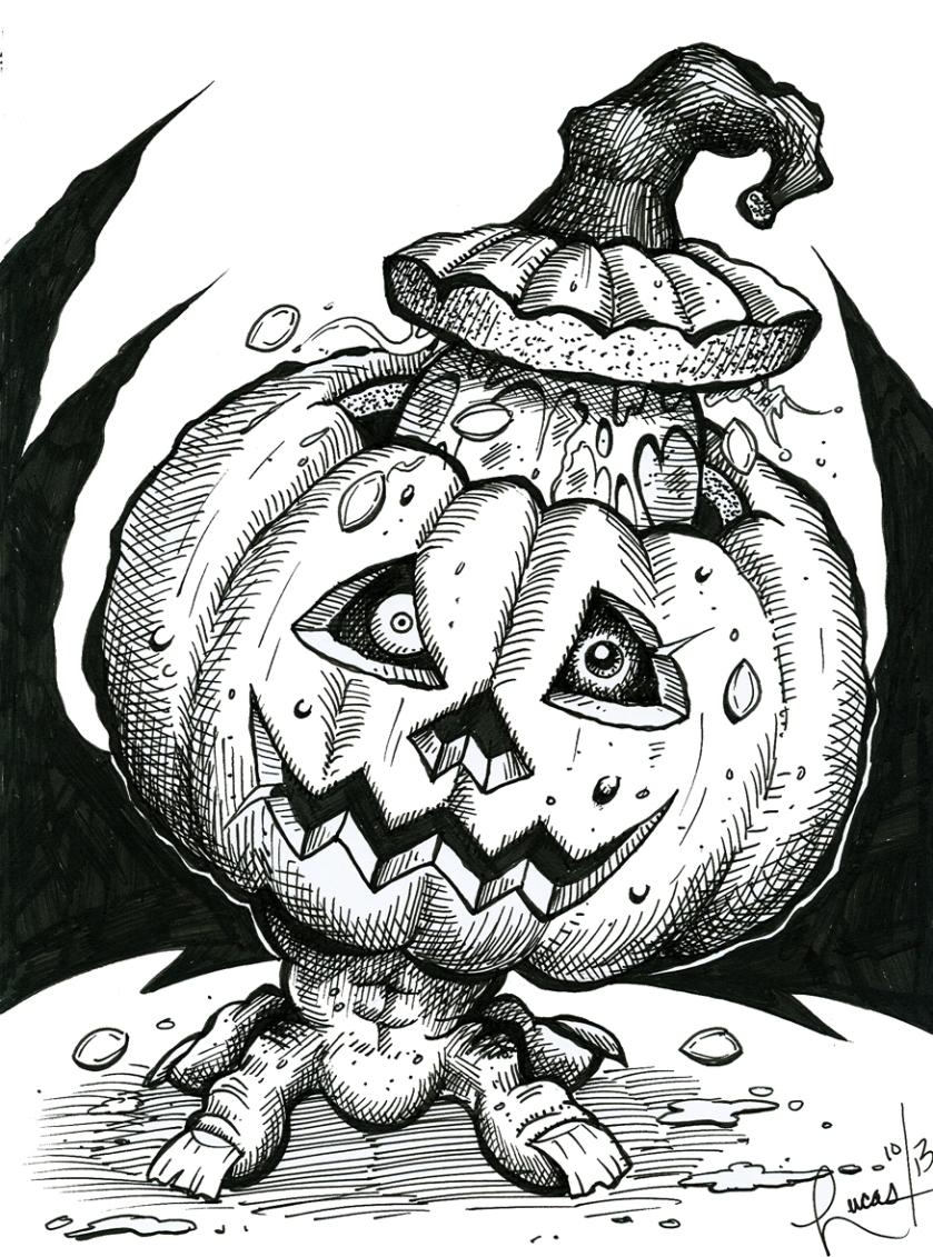 CreepyPumpkin_BW_125