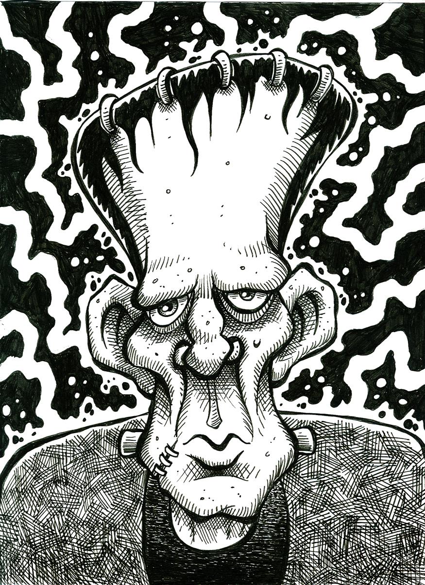FrankensteinPortrait_BW